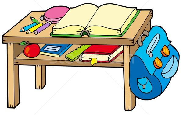 School table Stock photo © clairev