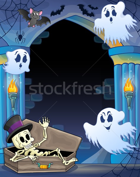 Wall alcove with Halloween theme 1 Stock photo © clairev