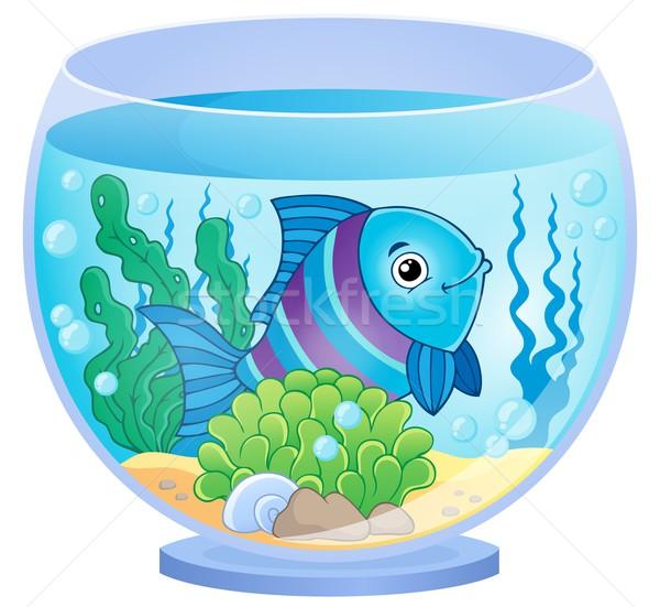 Akvaryum görüntü balık sanat bitki sualtı Stok fotoğraf © clairev