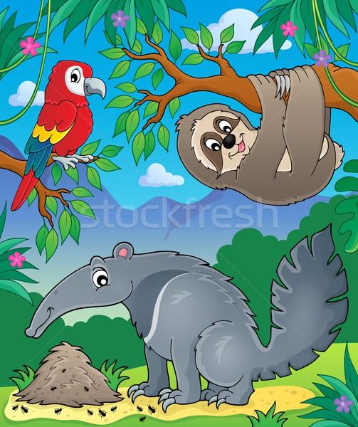 Animals in jungle topic image 1 Stock photo © clairev