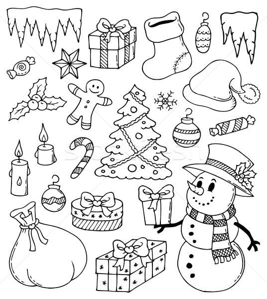 Рождества стилизованный зима конфеты сумку Сток-фото © clairev