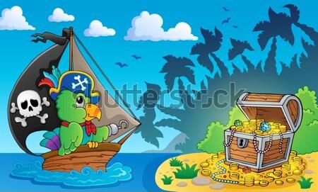 Pirate boat theme 4 Stock photo © clairev