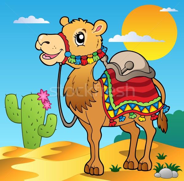 Desert scene with camel Stock photo © clairev