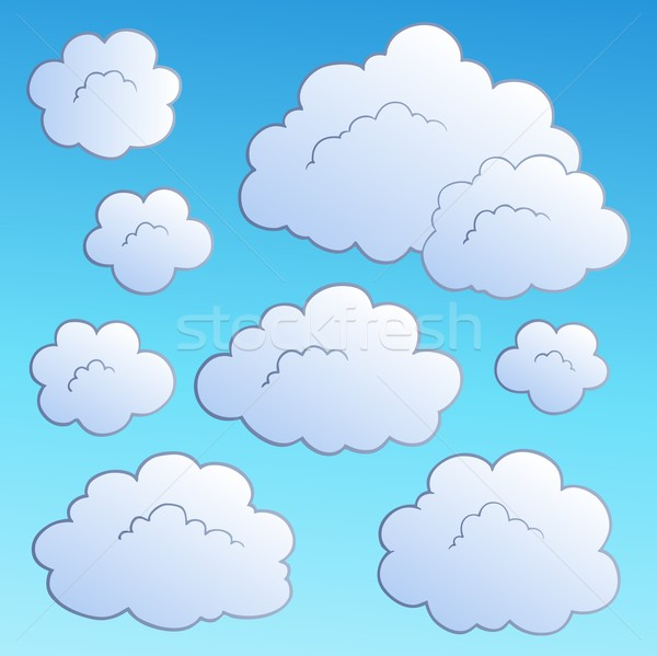 Cartoon clouds collection 2 Stock photo © clairev