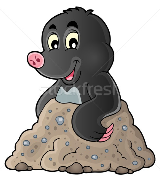 Happy mole theme image 1 Stock photo © clairev
