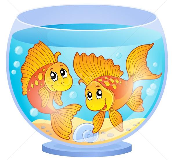 аквариум изображение воды рыбы искусства подводного Сток-фото © clairev