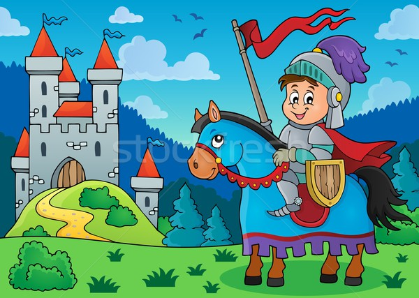 Knight on horse theme image 3 Stock photo © clairev