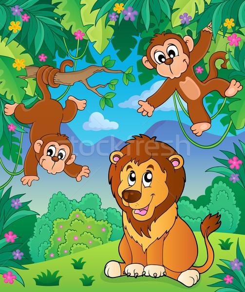 Animaux jungle sujet image printemps nature Photo stock © clairev