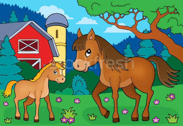 Horse with foal theme image 4 Stock photo © clairev