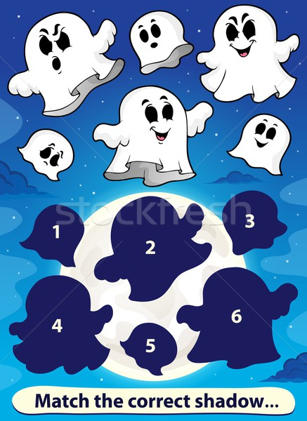 Shadow match game with ghosts 1 Stock photo © clairev