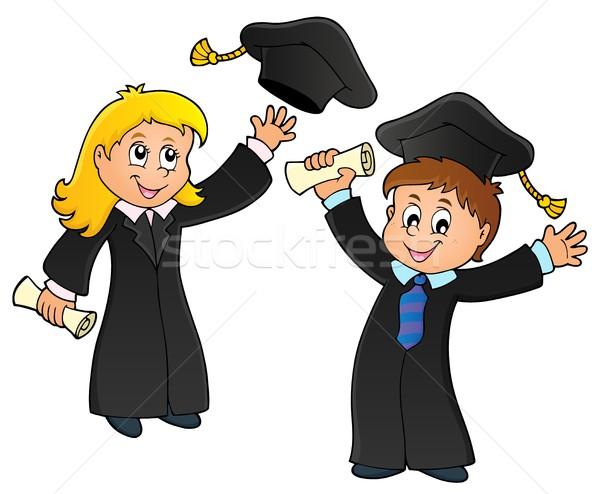 Graduação imagem escolas arte educação estudantes Foto stock © clairev