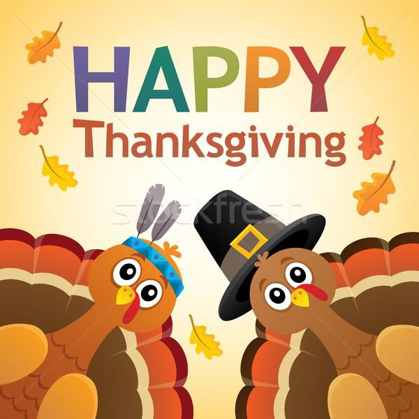 Happy Thanksgiving theme 7 Stock photo © clairev