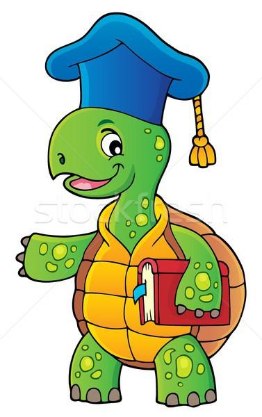черепахи учитель изображение книга школы счастливым Сток-фото © clairev