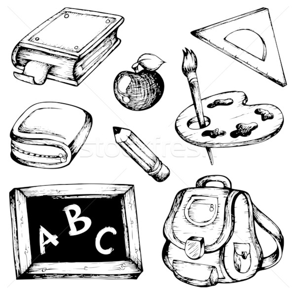 School drawings collection 1 Stock photo © clairev