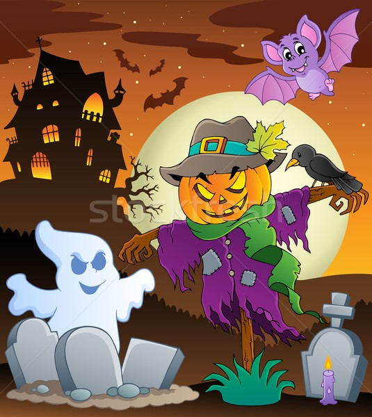 Halloween scarecrow theme image 3 Stock photo © clairev