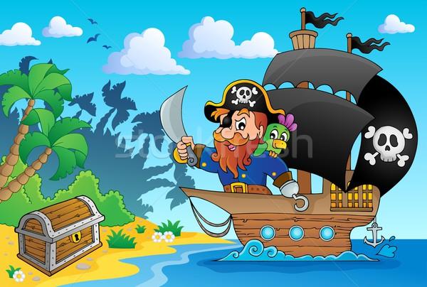 Pirate ship theme image 1 Stock photo © clairev