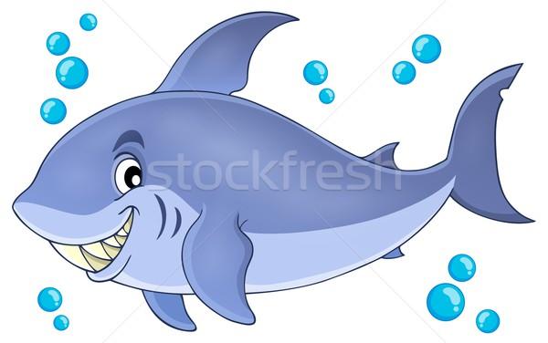 изображение акула рыбы морем искусства зубов Сток-фото © clairev