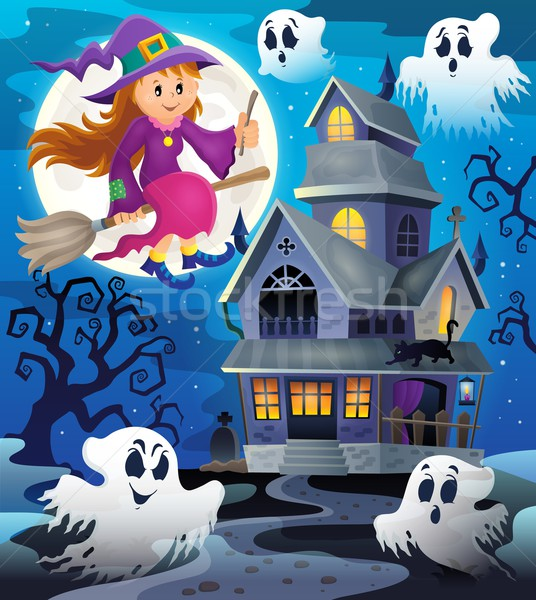 Image with haunted house thematics 8 Stock photo © clairev