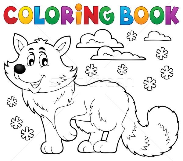 Coloring book polar fox theme 1 Stock photo © clairev