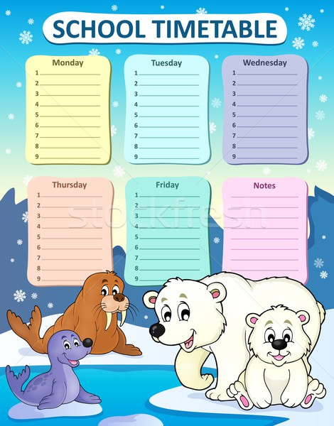 Weekly school timetable composition 1 Stock photo © clairev
