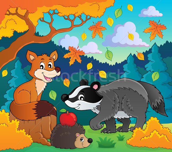 Forest wildlife theme image 1 Stock photo © clairev