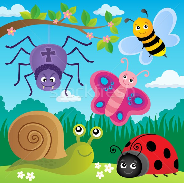 Spring animals and insect theme image 5 Stock photo © clairev