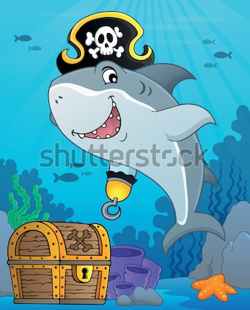 Pirate shark topic image 1 Stock photo © clairev