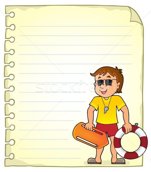 Notepad sayfa hayat bekçi kâğıt çalışmak Stok fotoğraf © clairev