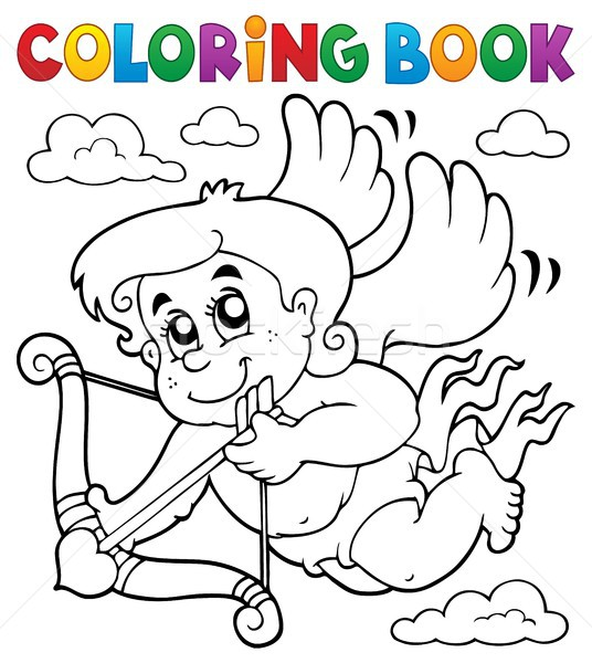 Coloring book Cupid topic 6 Stock photo © clairev