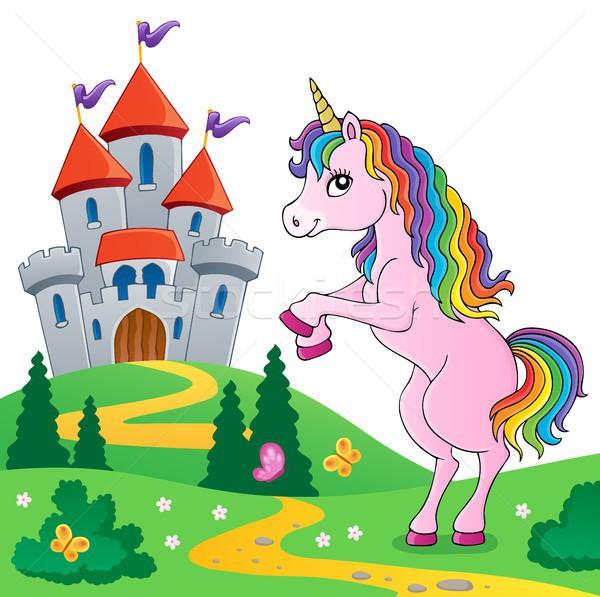 Standing unicorn theme image 6 Stock photo © clairev