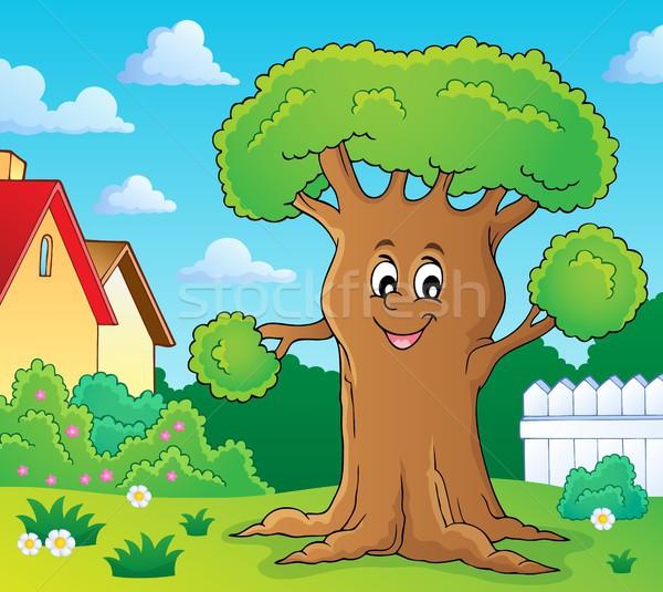 Cheerful tree theme image 2 Stock photo © clairev