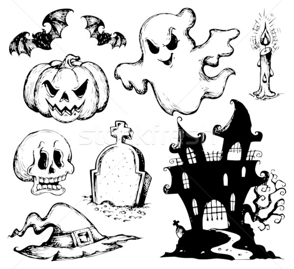 Halloween drawings collection 1 Stock photo © clairev