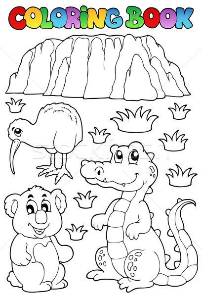 Coloring book Australian fauna 3 Stock photo © clairev
