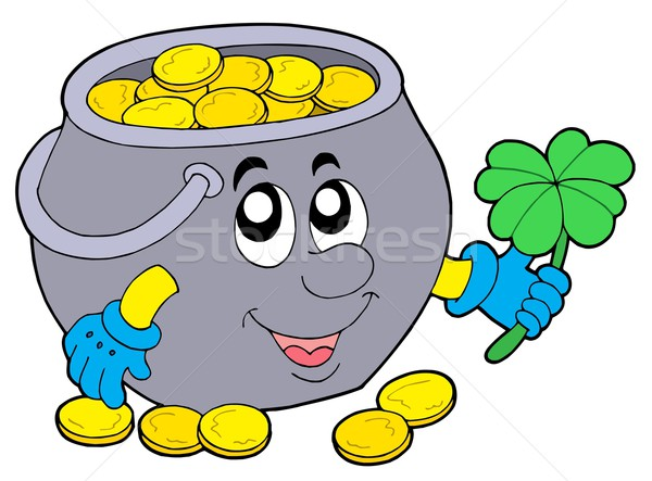 Stock photo: Lucky pot of money