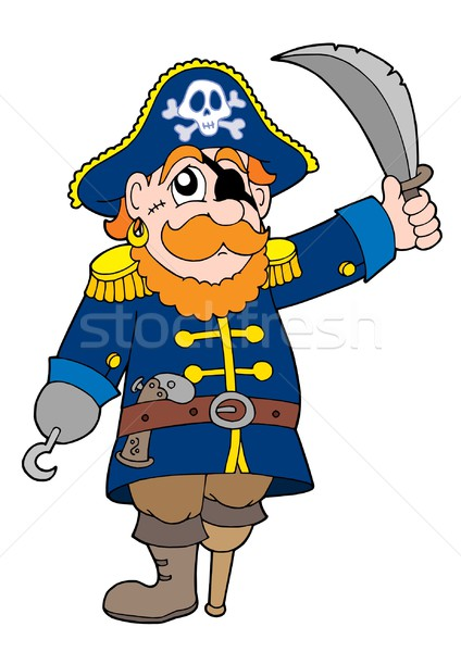 Pirate with sabre Stock photo © clairev