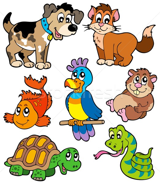Pet cartoons collection Stock photo © clairev