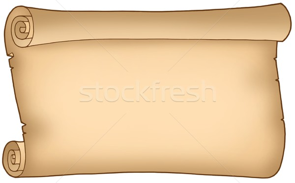 Old wide parchment Stock photo © clairev