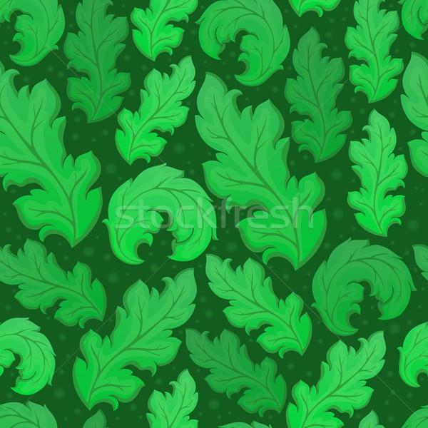 Leafy seamless background 5 Stock photo © clairev