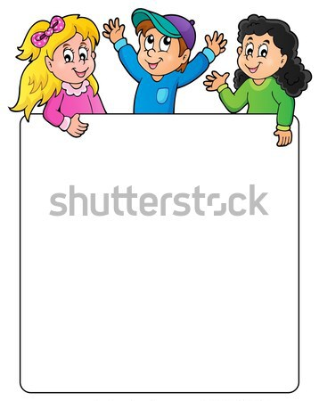 Blank frame with lurking children Stock photo © clairev