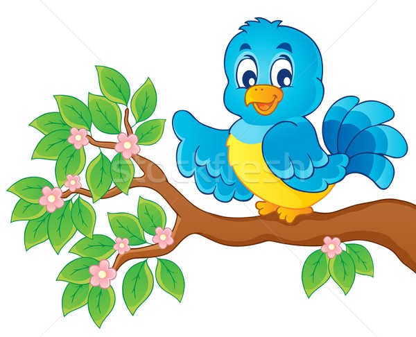 Pássaro imagem feliz arte animal asas Foto stock © clairev