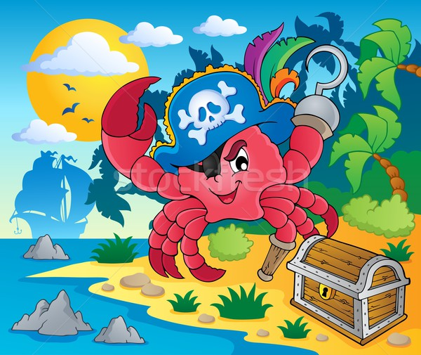 Pirate crab theme image 2 Stock photo © clairev