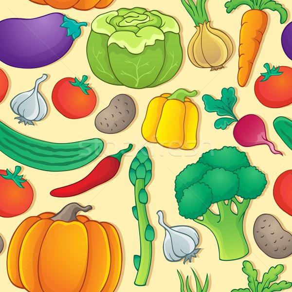 Foto stock: Sin · costura · vegetales · arte · tomate · zanahoria · gráfico