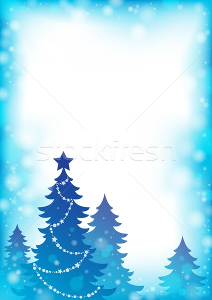 Christmas tree silhouette theme 4 Stock photo © clairev