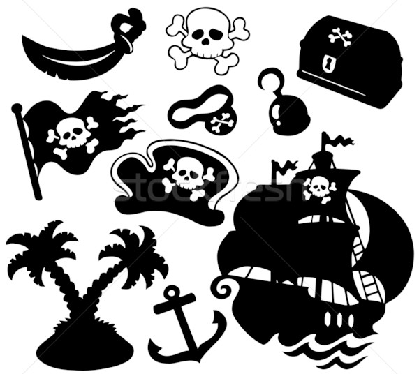 Pirate silhouettes collection Stock photo © clairev