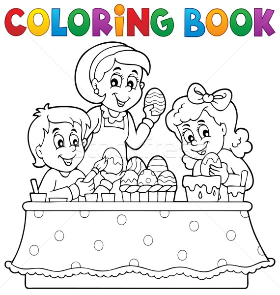 Coloring book Easter topic image 1 Stock photo © clairev