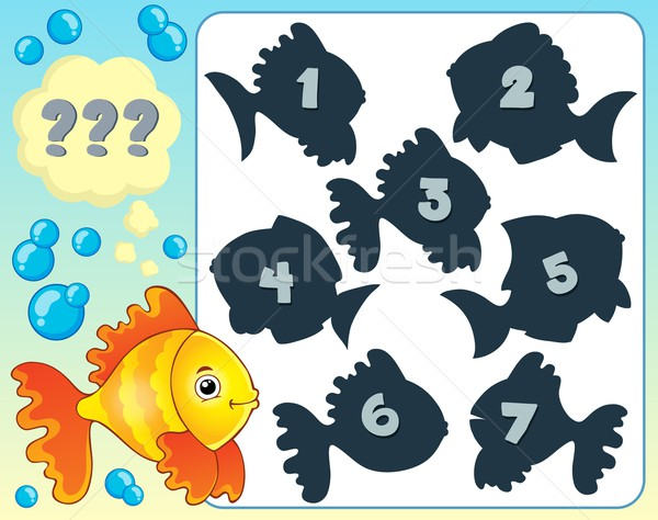 Stock photo: Fish riddle theme image 4