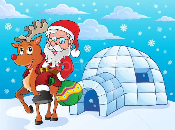 Igloo with Santa Claus theme 2 Stock photo © clairev
