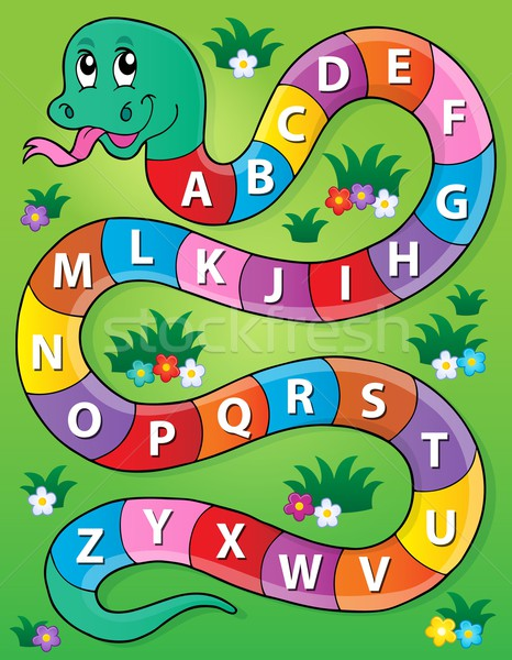 Snake with alphabet theme image 2 Stock photo © clairev