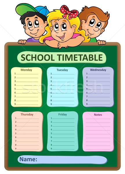 Weekly school timetable theme 5 Stock photo © clairev
