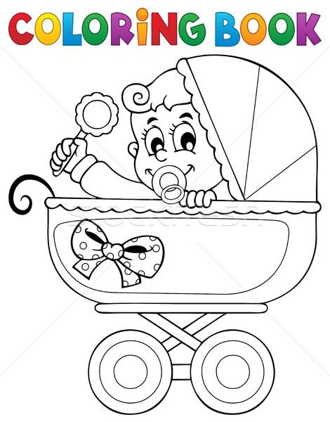 Coloring Book Baby Theme Image 5 Vector Illustration C Klara Viskova